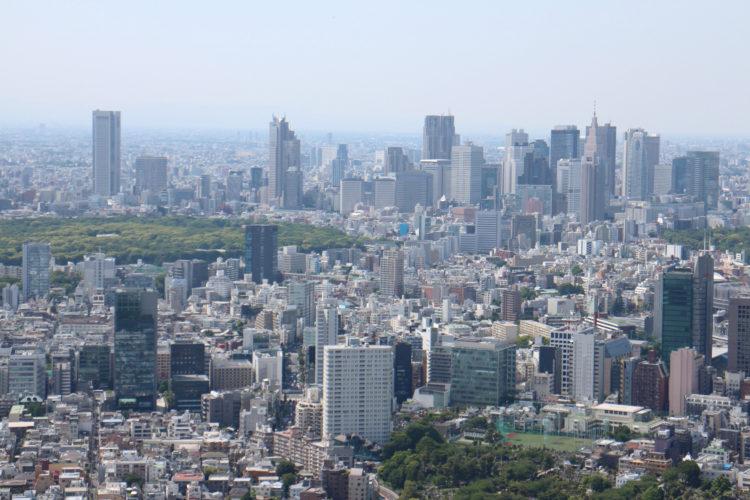 Blick Richtung Shinjuku vom Dach des Mori Buildings.