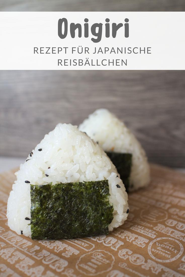 Rezept für japanische Reisbällchen Onigiri