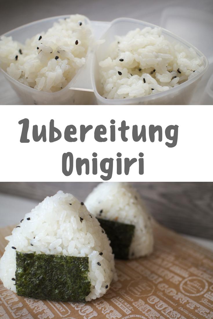 Onigiri Rezept: japanische Reisbällchen mit verschiedenen Füllungen