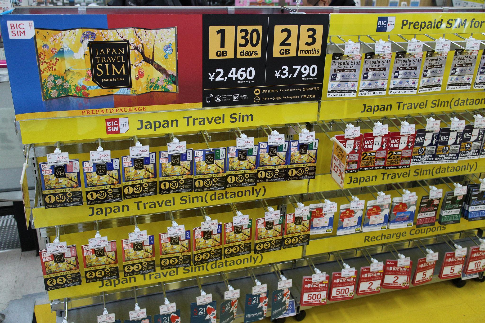 Simkarten in Japan 3