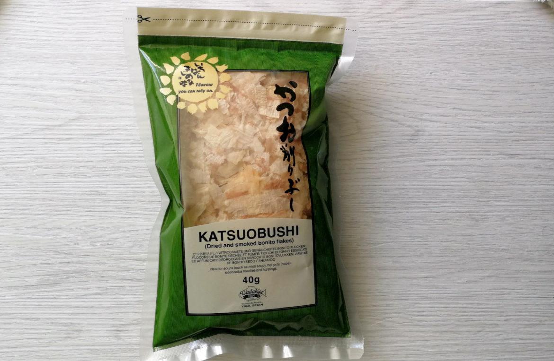 Eine 40 Gramm Tüte Katsuobushi