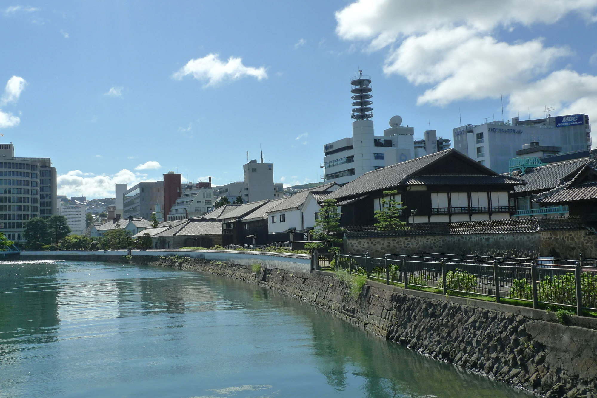 Dejima am Kanal in Nagasaki.