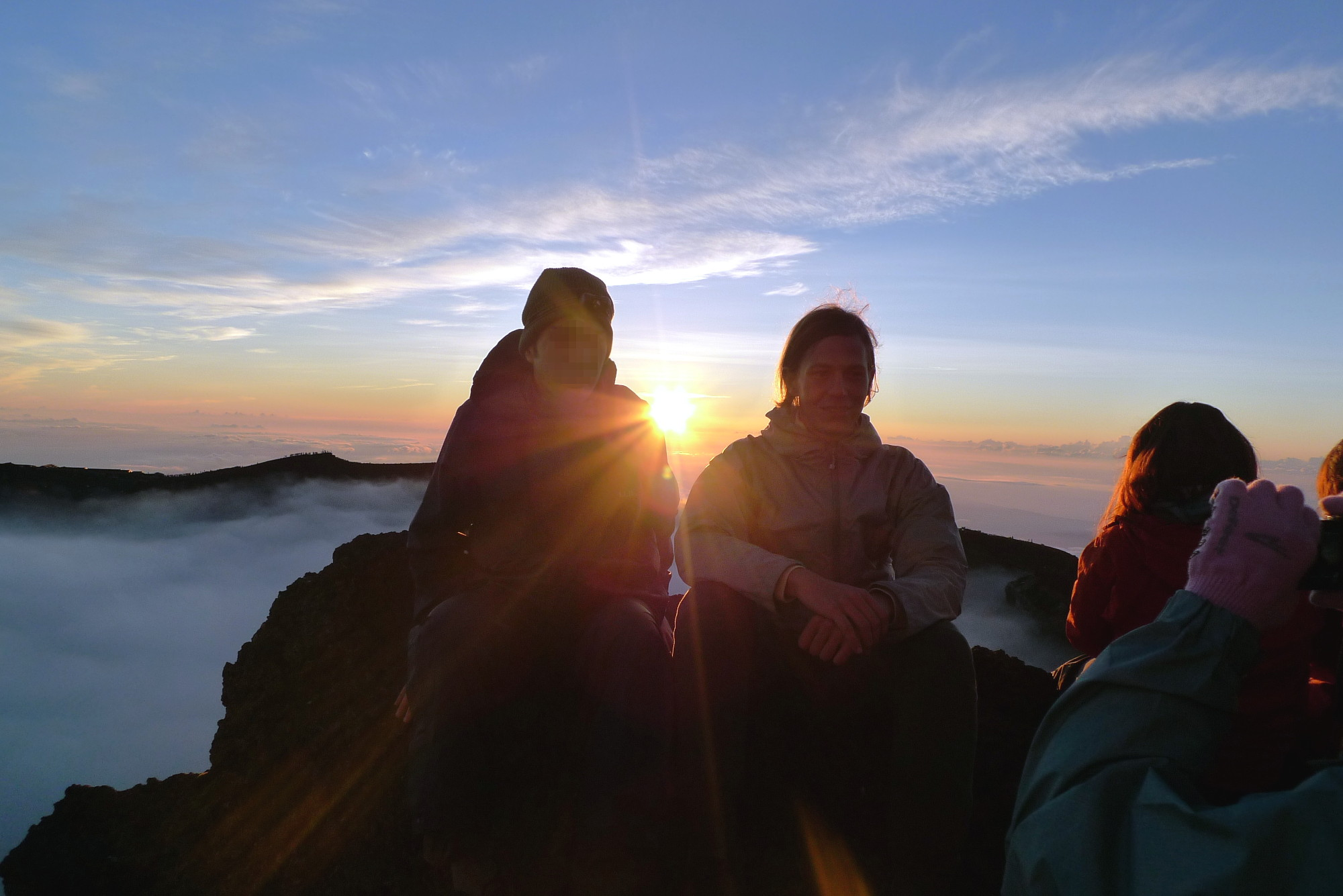 Sonnenaufgang auf dem Fuji.