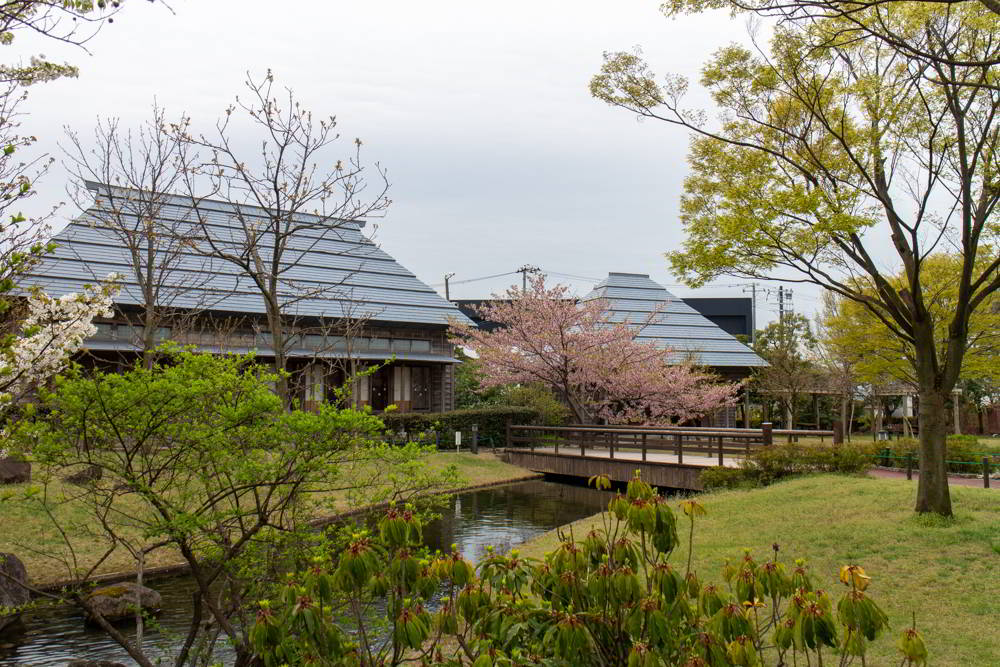 Traditionelle Häuser aus Niigata zum Begehen