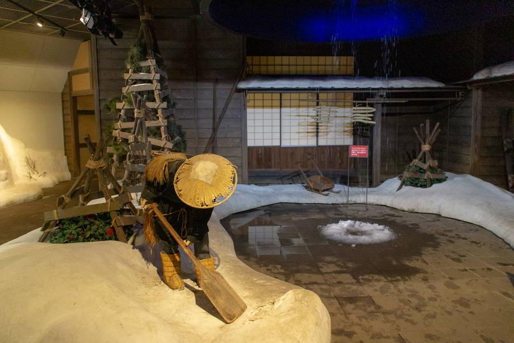 Eine Darstellung von Schnee in Niigata...!
