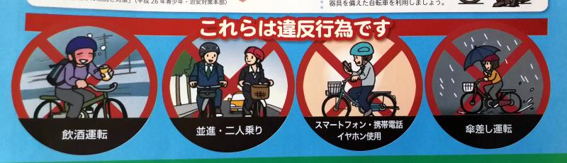Verkehrsregeln für Fahrräder in Japan: Verbote und Strafen