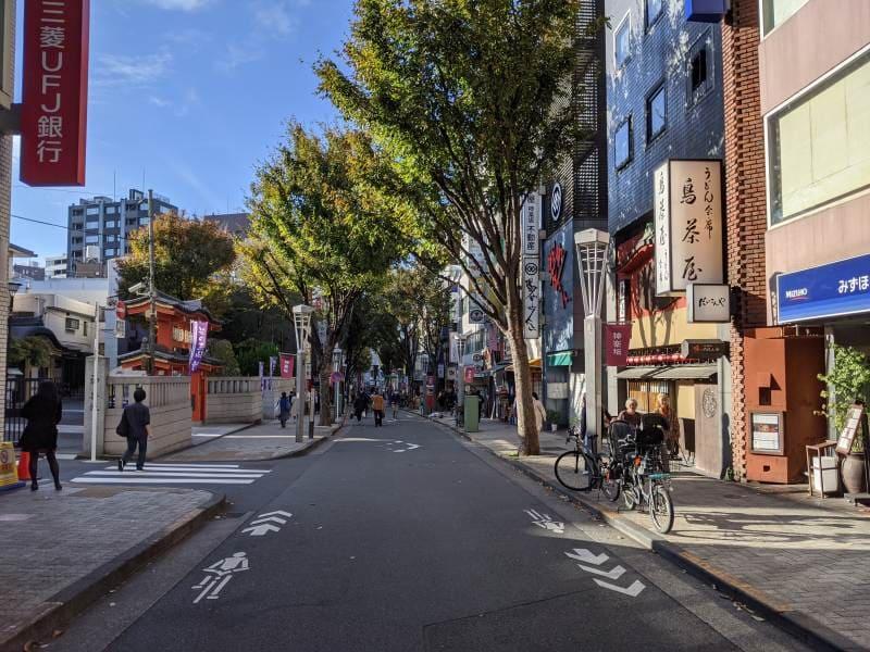 Shared Space Straße Tokyo Kagurazaka