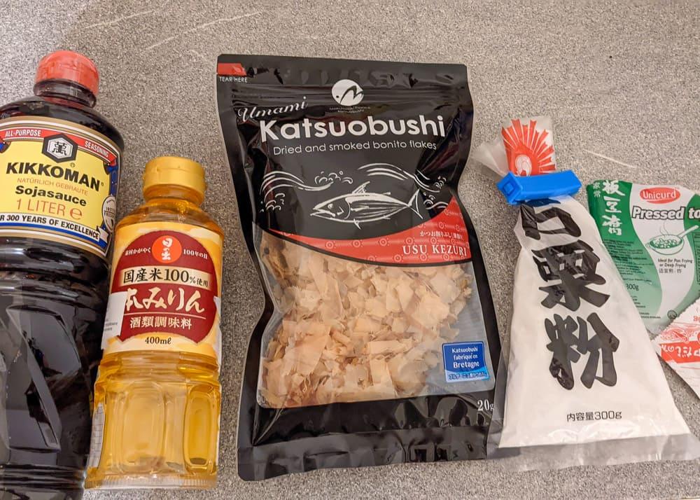 Zutaten für Agedashi Tofu