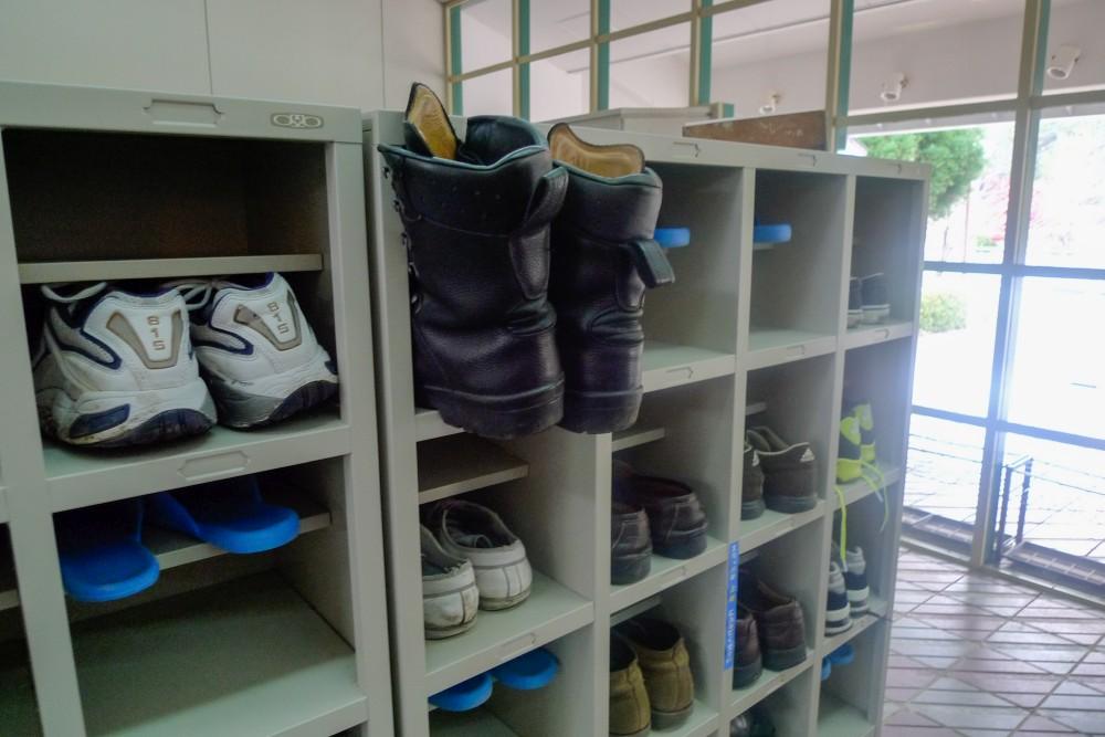 Schuhe im Rurikei Onsen