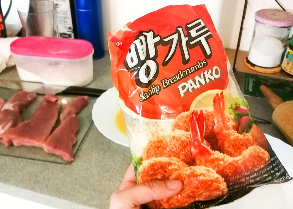 Panko zum Panieren von Tonkatsu