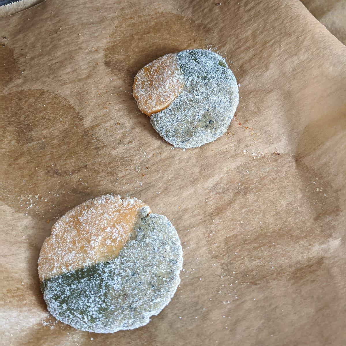 Matcha-Kinako-Sesam Cookies