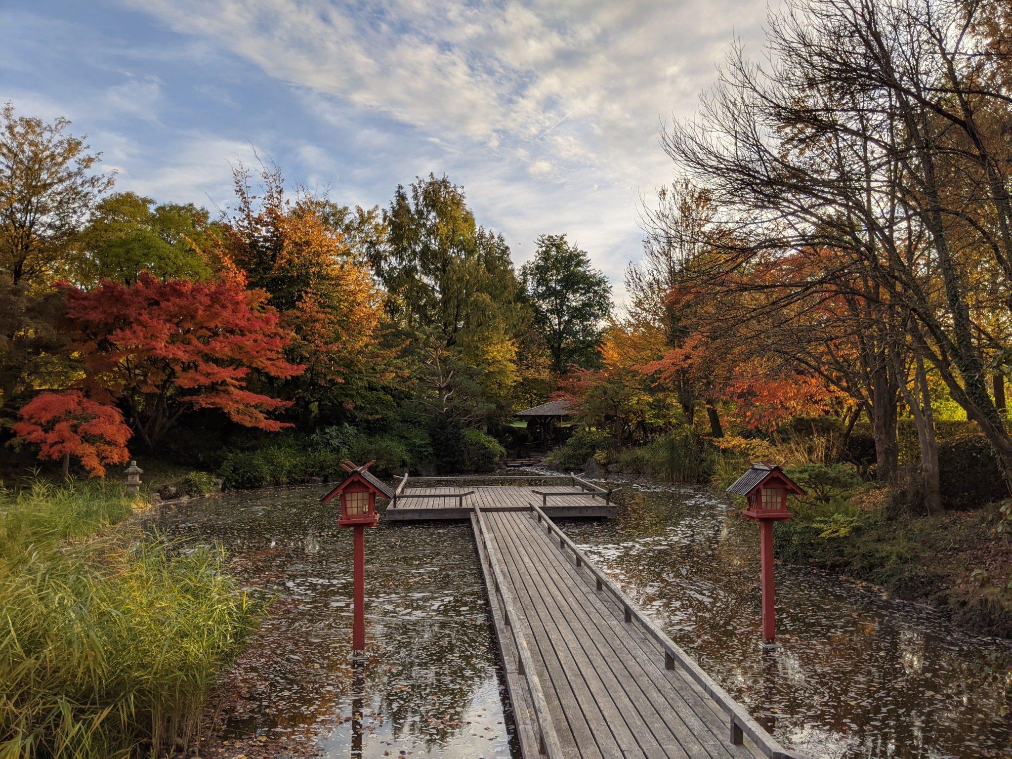 Japan-weh Westparl japanischer Garten