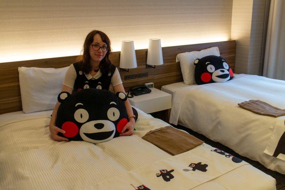 Das Kumamon-Zimmer im Mitsui Garden Hotel