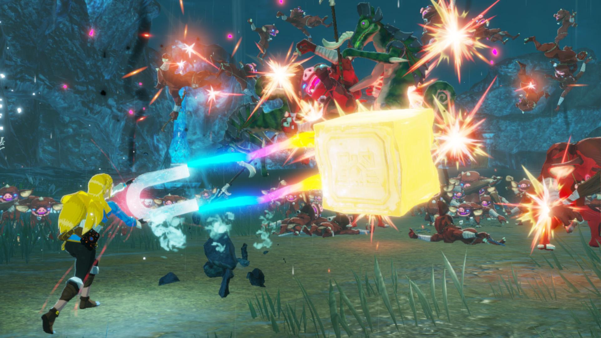 Zelda kämpft mit den Kräften der Wissenschaft gegen die zahlreichen Monster.