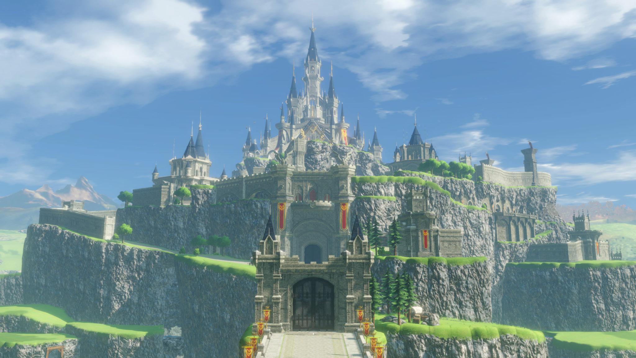 Das Schloss vor der Verheerung. Wir erleben ein intaktes Hyrule ohne Ruinen.