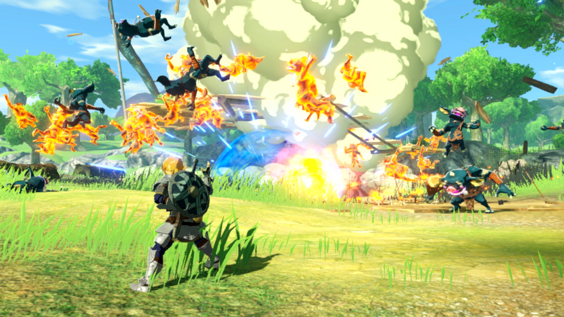 Link kämpft mit dem Schwert, besitzt aber mit Speer und Zweihänder noch zwei weitere, völlig neue Fähigkeiten-Sets.