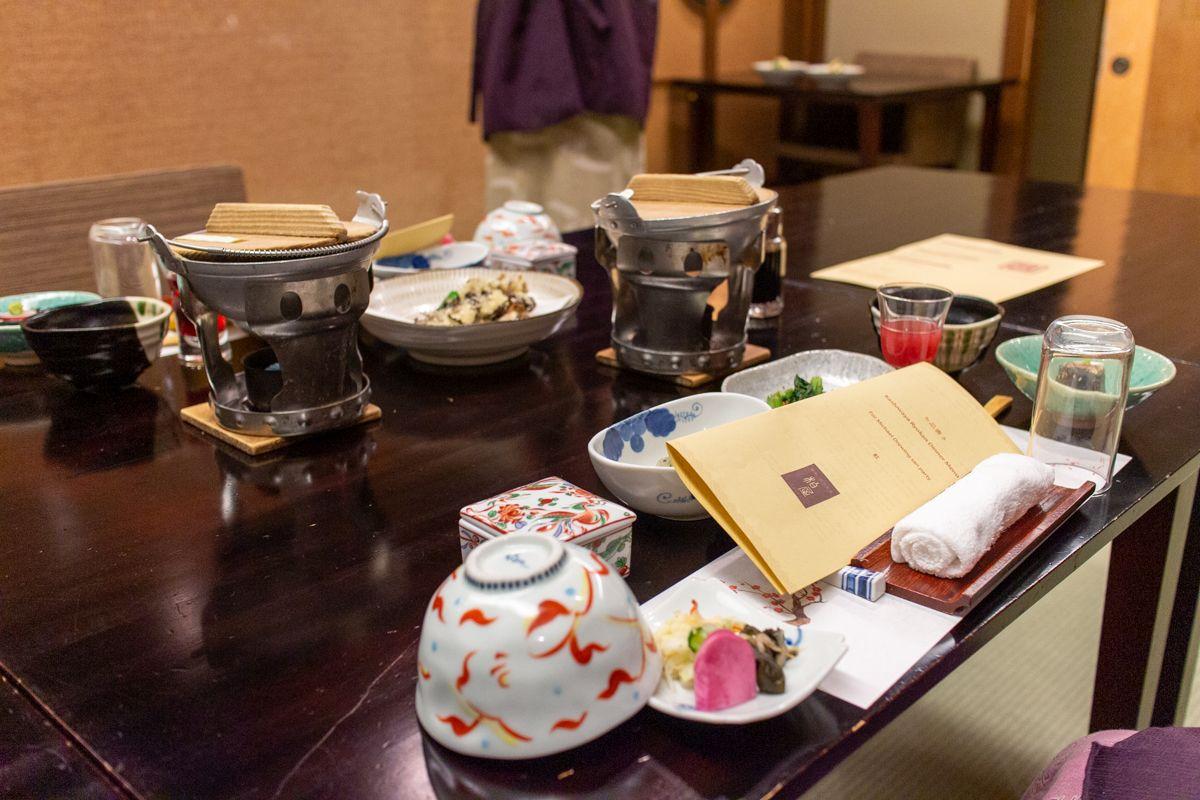 Essen im Ryokan