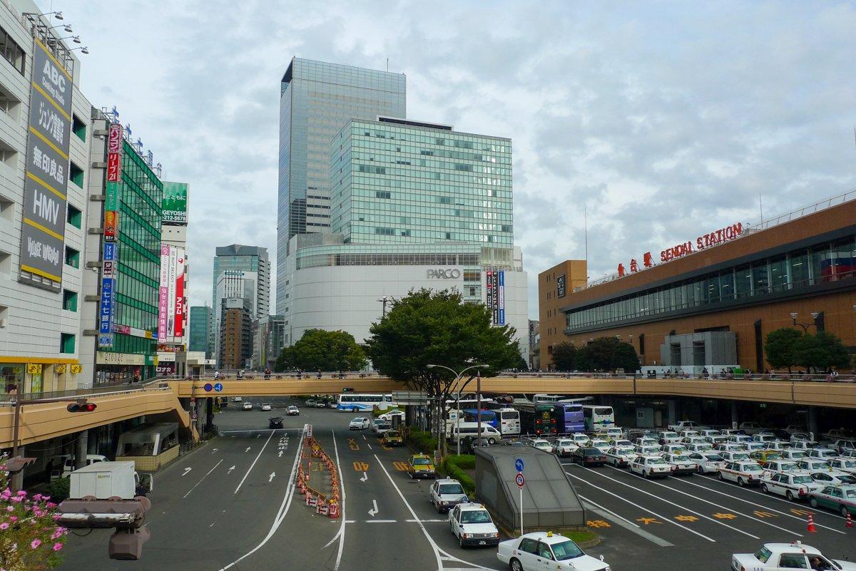 Der Hauptbahnhof von Sendai