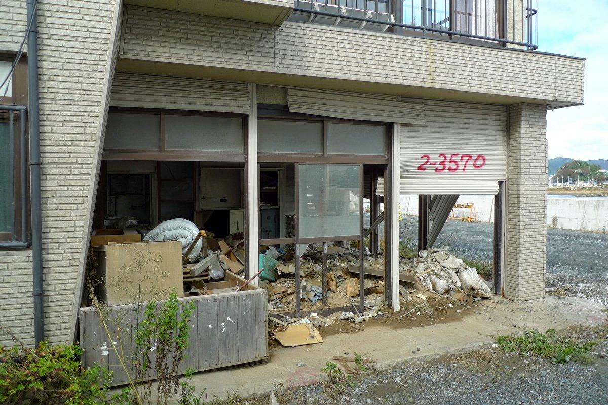 2013 waren die Schäden des Tsunami noch lange nichgt beseitigt.