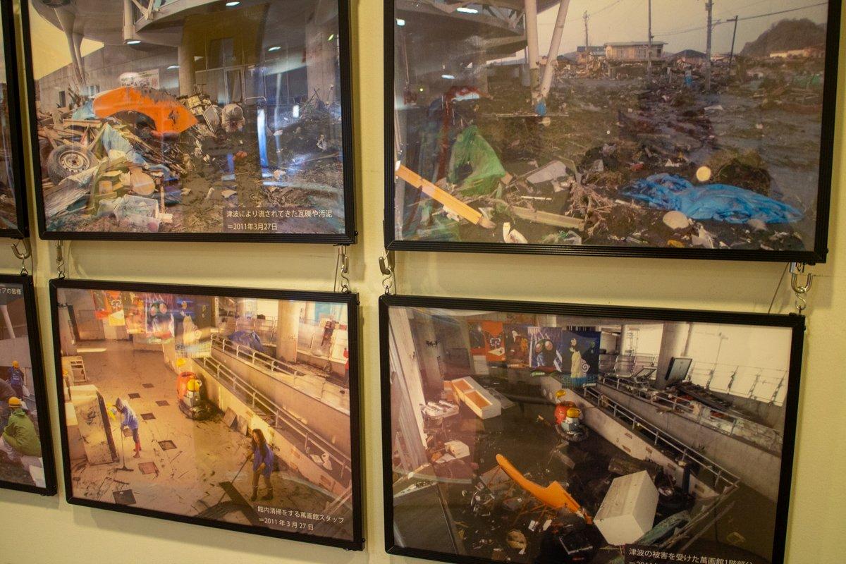 Die Schäden am Museum wurden in einer kleinen Ausstellung dokumentiert und waren gravierend.