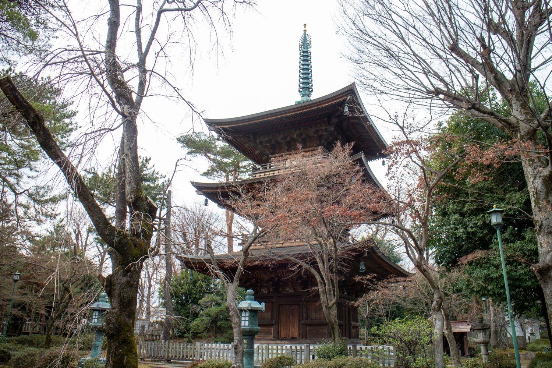 Im Gotoku-ji gibt es auch eine Pagode...