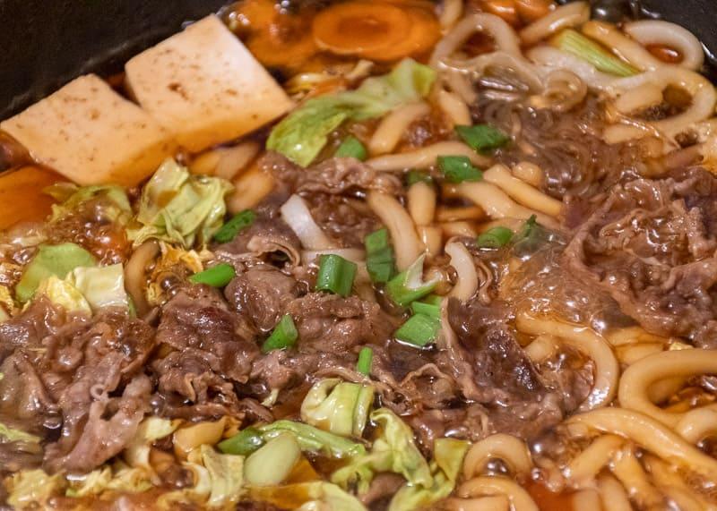 Rezept Udon Sukiyaki Nahaufnahme