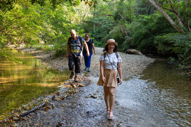 Auf dem Weg zum Hiji-Wasserfall.