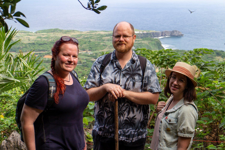 Die Aussicht hier ist toll, wir befindne uns im nördlichsten Teil der Hauptinsel.